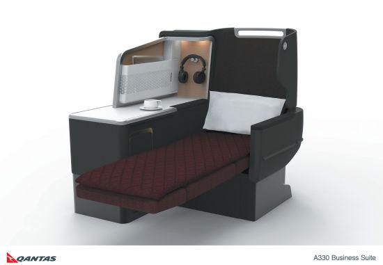 澳洲航空计划于本年底逐步为A330机队引入全新商务客位,新座椅能在飞机升降时继续保持平放且配置床垫。