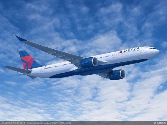 达美航空确认订购50架空中客车宽体飞机图片 34695 550x413