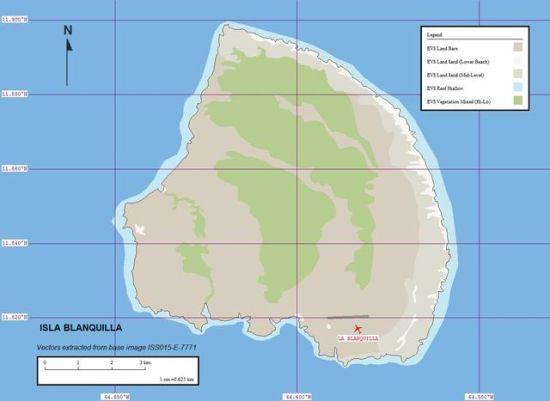 资料图:加勒比海列斯群岛布兰基亚岛