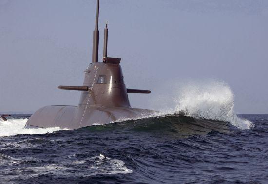 资料图:德国214潜艇采用燃料电池