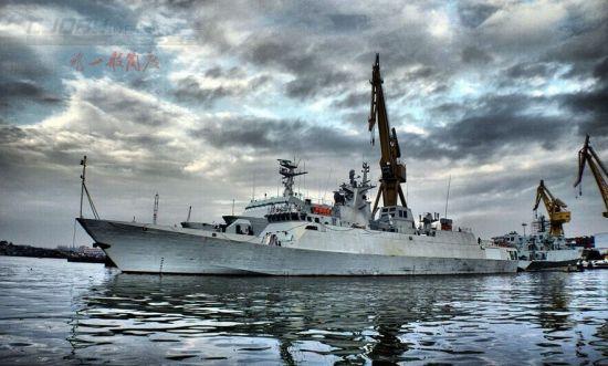 资料图:我国最新型056护卫舰