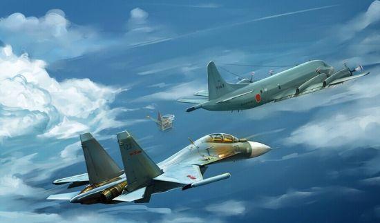 资料图:中日战机对决东海假想图。