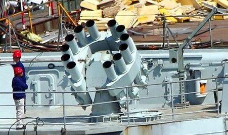 资料图:火箭式深弹现在很难用于打击潜艇,更多的是进行鱼雷拦截