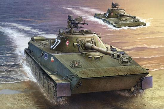 资料图:波兰PT-76b轻型水陆坦克