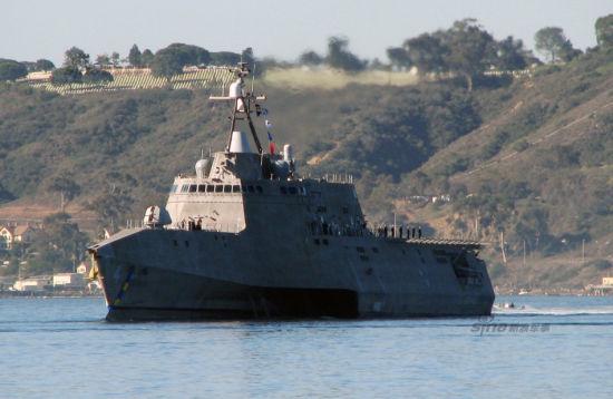 资料图:美国海军科罗纳多号濒海战斗舰。
