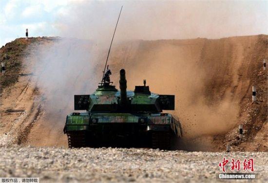 中國96A坦克表現出色,但因故障,有一輛車中途拋錨,結果同組屈居第三