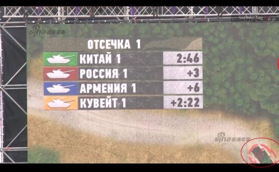 资料图:比赛中中俄主战坦克出现相撞事故