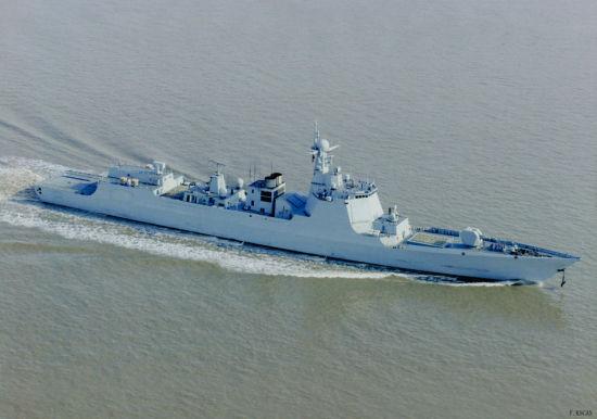 资料图:我军最新型052D级防空驱逐舰