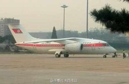 网友拍摄到的被误读为金正恩专机的安-148飞机
