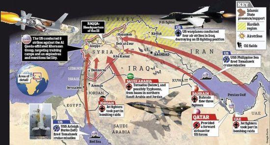 资料图:美军公布轰炸情况