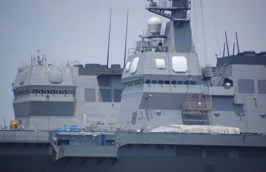 资料图:日本出云号准航母配备相控阵雷达