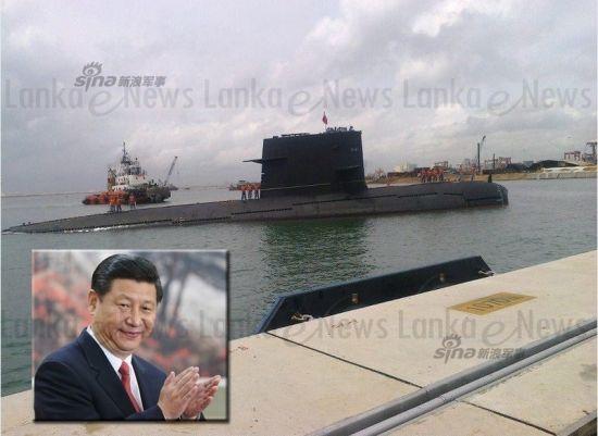 资料图:我军宋级潜艇现身斯里兰卡中国援建港口