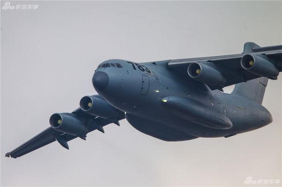 资料图:运-20在本届珠海航展进行飞行表演彩排
