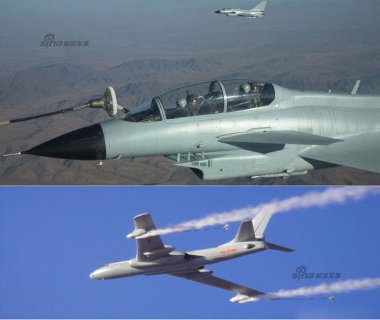 近日,广空航空兵某师组织实战环境下空中加受油训练,有效促进了部队远程加受油能力稳步攀升。比较少见的是,本图集中出现了轰油六空中紧急放油照片。