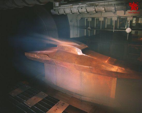 X-43的高温风洞测试
