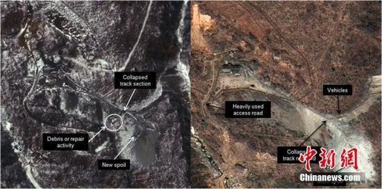 资料图:朝鲜核设施卫星照片