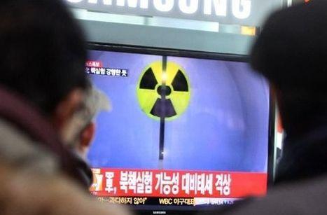 资料图:韩国民众在观看朝鲜核试验报道