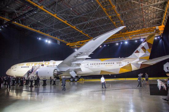 资料图:阿提哈德航空波音787客机。