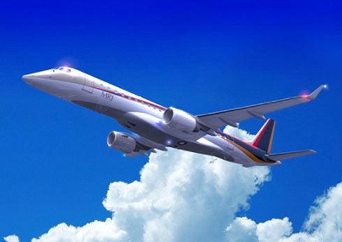 资料图:日本首款国产小型喷气客机将首飞。