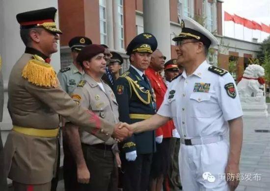 孙副总长接见各国领队