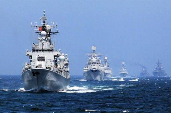 中俄海上联合演习