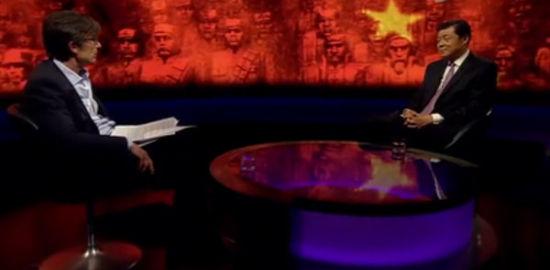 中国驻英大使刘晓明做客BBC著名节目《新闻之夜》