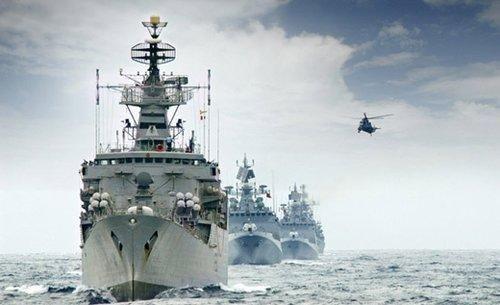 印度海军战舰编队航行(资料图)