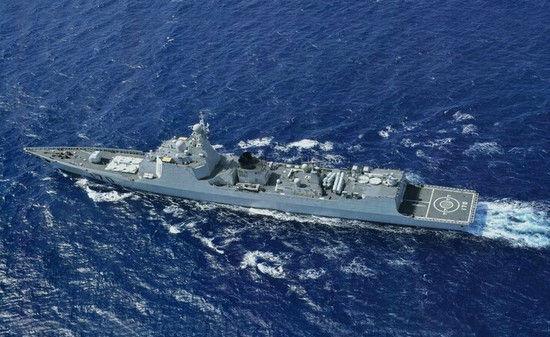 """中国海军""""兰州号""""导弹驱逐舰"""