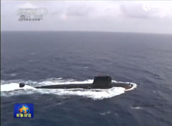 2015年4月26日,央视军事频道首次播放中国海军091级改进型核攻击潜艇在亚丁湾画面。