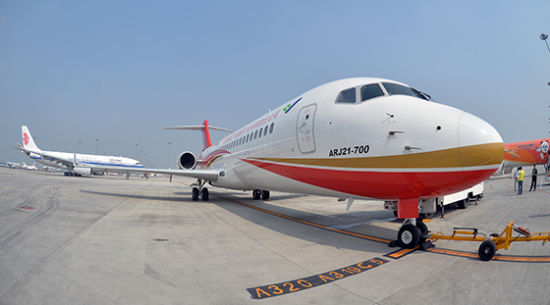 ARJ21飞机演示飞行