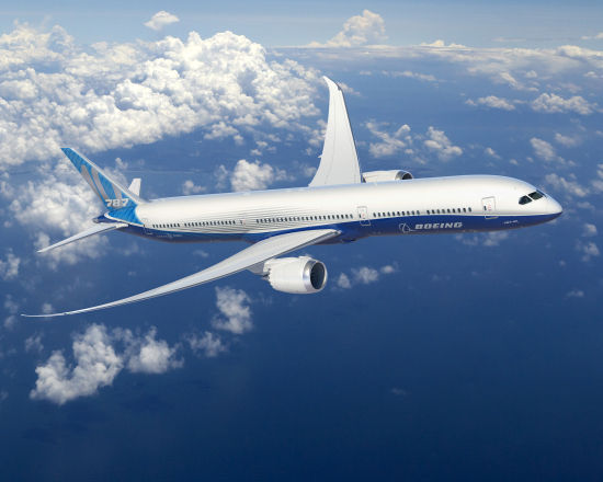 波音787-10可以覆盖全球90%以上的双通道飞机航线