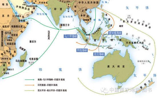 资料图:中国突破南海航线示意图