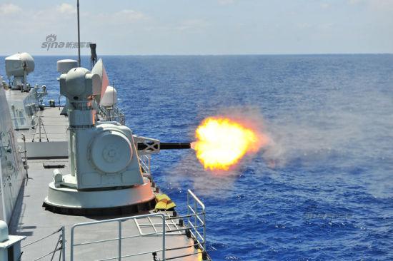 中俄海上联演:我军舰载近防炮秀凶猛打击能力