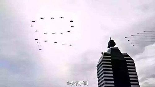 抗战成功阅兵预演现场(图像来历:央视)