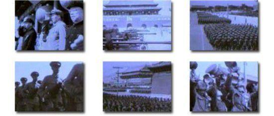 1950年第二次国庆大阅兵,朱德总司令在阅兵式上发布命令,就朝鲜战争爆发、台湾的局势,要求人民解放军做好战斗准备。此次阅兵最壮观的景象是骑兵部队的一千九百匹白马以六路纵队。