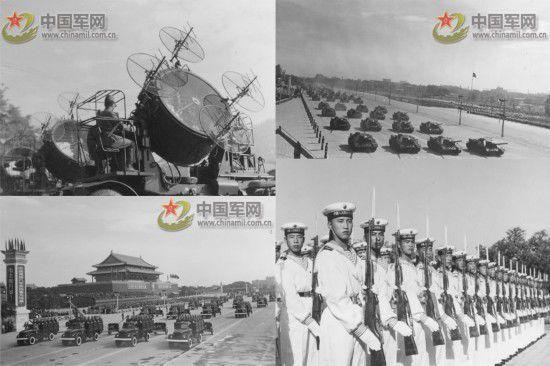 1957年第九次国庆阅兵,国产喷气式轰炸机、歼击机第一次接受检阅。