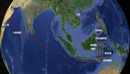有外国媒体猜测这是中国海军的093型核潜艇在印度洋亚丁湾巡逻。关于中国海军深入印度洋执行任务,一直以来就受到有关国家海军的高度关注。