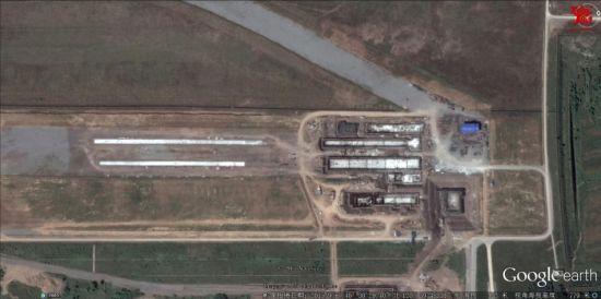 卫星照显示疑似中国最新航母弹射器