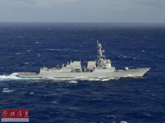 美菲在南海举行军演美军派出最新宙斯盾战舰