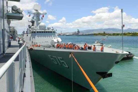 外媒:中国在环太军演只能参加外围项目演练