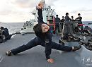 北海舰队女兵有两下子
