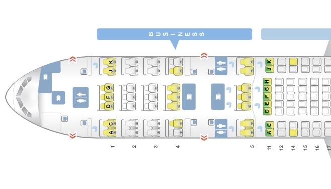 -200客机座舱布局图