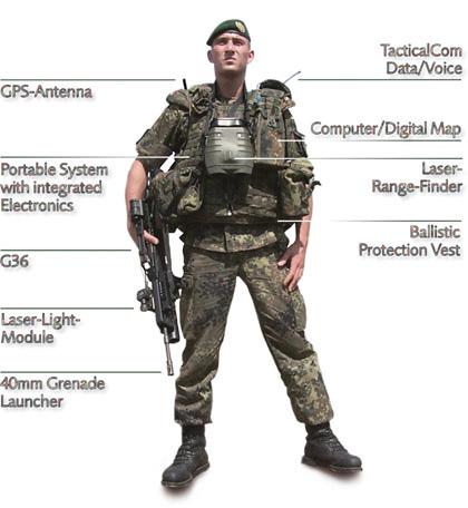 图文:德军基本型IDZ未来单兵战斗系统
