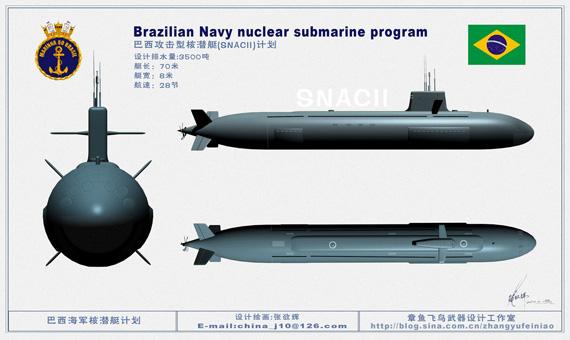 巴西请外国帮忙造核潜艇中国在考虑之内(组图)