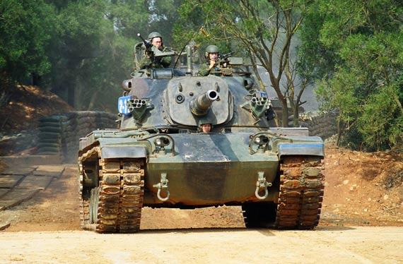 图文:台湾陆军CM-11属于战后第二代主战坦克