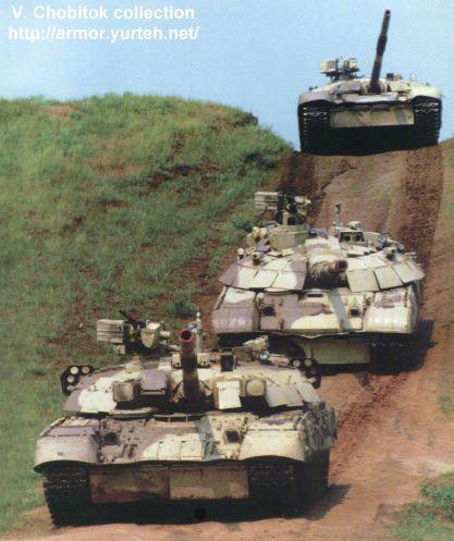 乌克兰T-84M坦克125毫米炮可发射炮射导弹