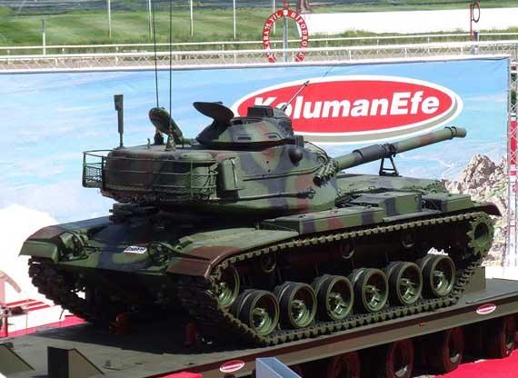 土耳其新型M60T坦克威力强大可发射炮射导弹