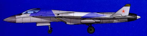 组图:俄罗斯放弃的第五代战机设计方案两视图