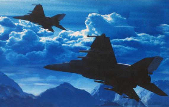 图文:国产飞豹战机挂载YJ91和YJ83K反舰导弹