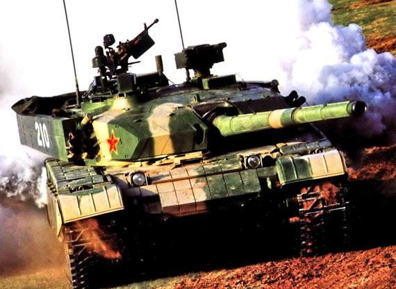 图文:改进型99式主战坦克参加联合军演
